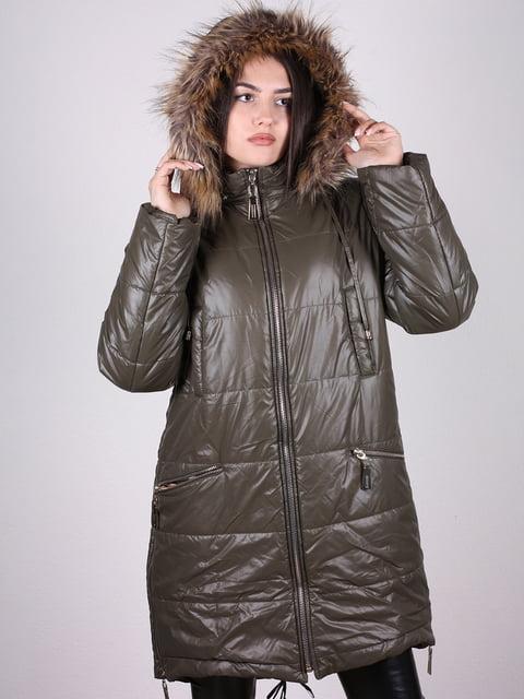 Пальто оливкового цвета Artua Collection 4897431