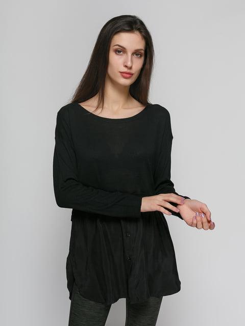 Лонгслів чорний Zara 4874677