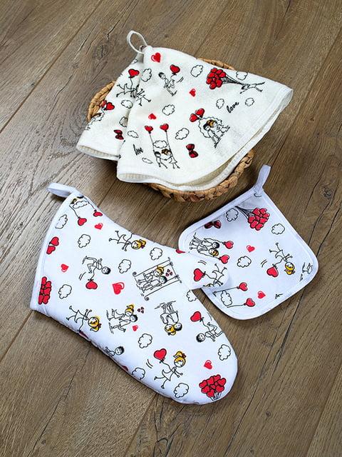 Набор кухонный: рукавица, прихватка и полотенце (50х50 см) LOTUS 4897971