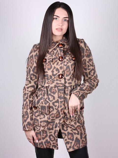 Пальто анималистической расцветки Artua Collection 4902372