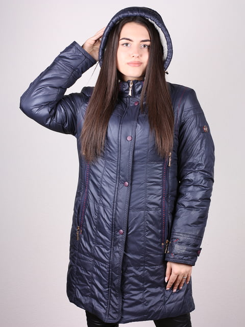Пальто темно-синее Artua Collection 4902391