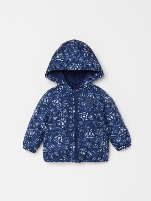 Куртка синя в принт Oviesse 4902998