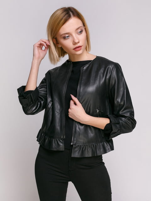 Куртка чорна Zara 4876006