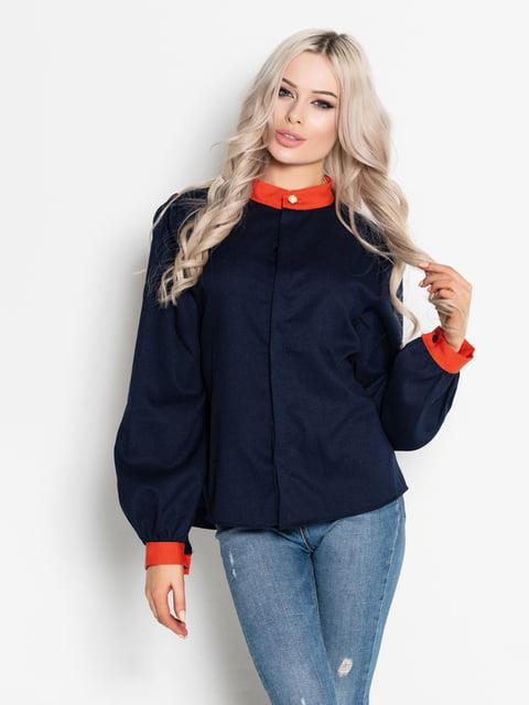 Блуза темно-синяя Magnet 4903878