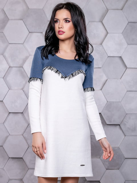 Сукня біло-синя Seventeen 4904639