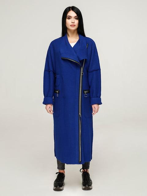 Пальто кольору електрик Favoritti 4904616