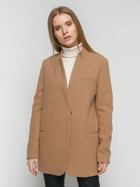 Пальто коричневое Zara 4875999