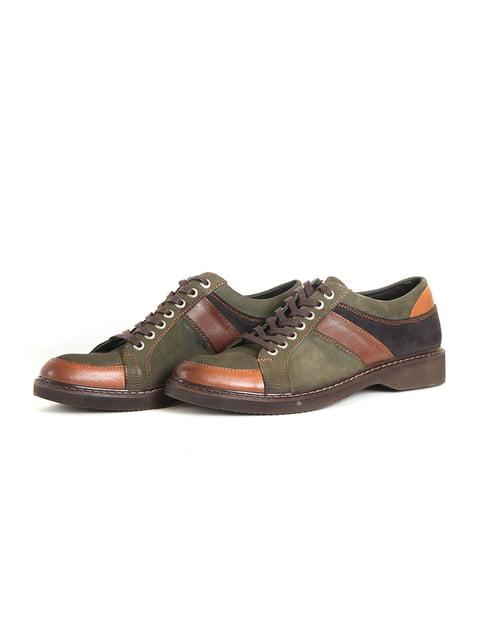 Туфлі зелено-коричневі Goretti 4905133