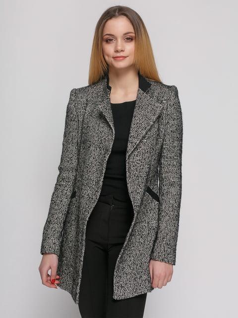 Пальто черное меланжевое Zara 4876255