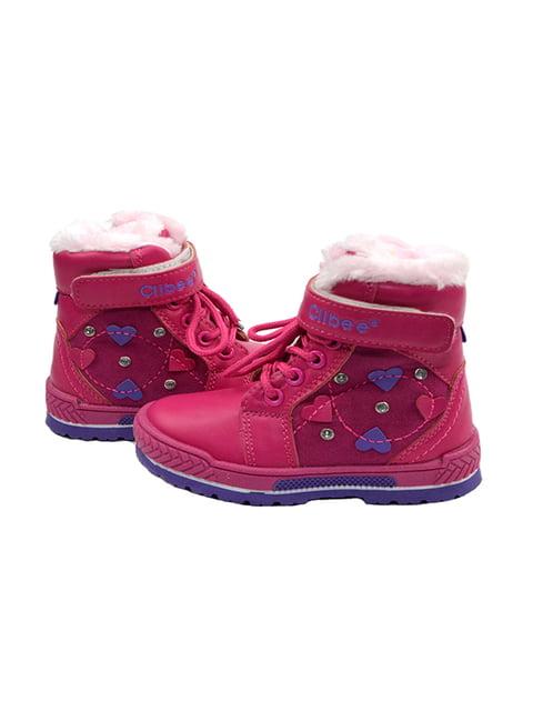 Ботинки малинового цвета Clibee 3998237
