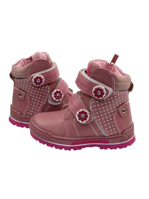 Черевики рожеві в горошок Clibee 3998240
