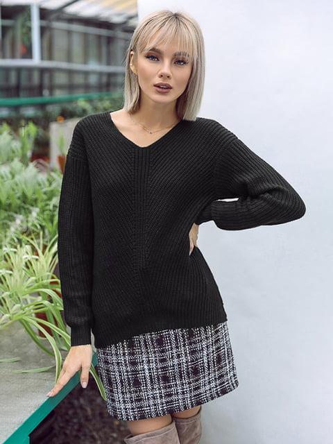 Пуловер черный Gepur 4839657