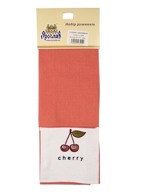 Набор полотенец вафельных с вышивкой (40х75 см, 2 шт.) Ярослав 4909490