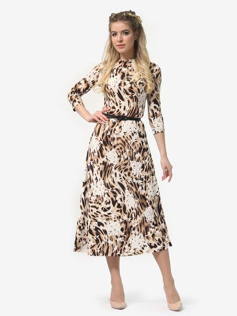 Платье в леопардовый принт и белые цветы LILA KASS 4913330