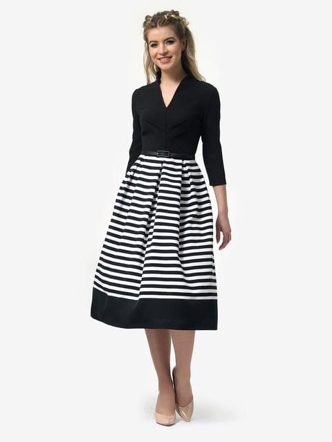 Платье черное в полоску LILA KASS 4913331
