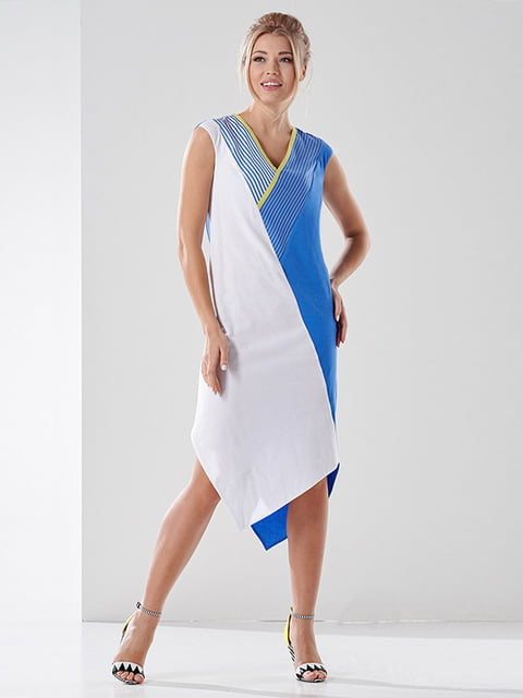 Платье двухцветное Lesya 4138698