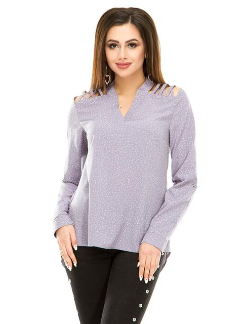 Блуза темно-серая в горошек Exclusive. 4917437