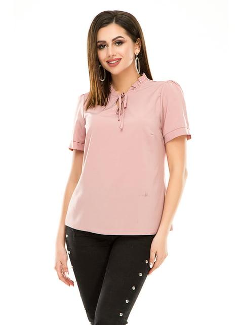 Блуза кольору пудри Exclusive. 4917449