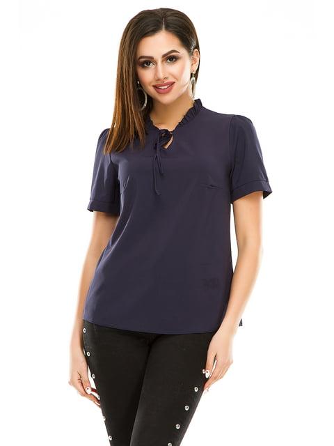 Блуза темно-синя Exclusive. 4917458