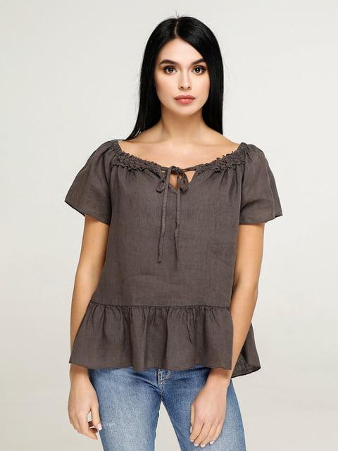 Блуза цвета кофе Favoritti 4917556