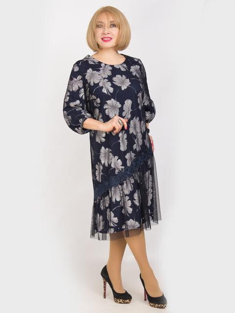 Сукня синя в квітковий принт LibeAmore 4914329