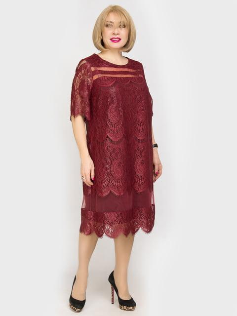Платье бордовое LibeAmore 4917803