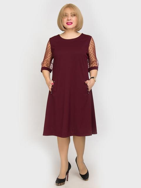 Платье бордовое LibeAmore 4917811
