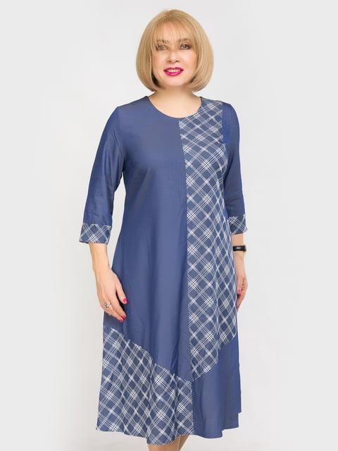 Сукня синя в клітинку LibeAmore 4917815