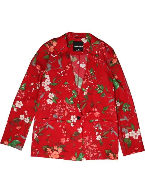 Жакет червоний в квітковий принт Tally Weijl 4916215