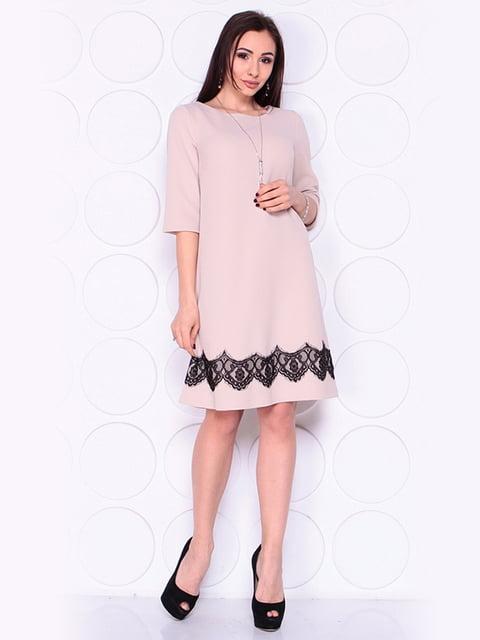 Платье бежевое Laura Bettini 4919793