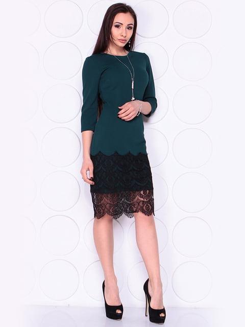 Платье темно-изумрудного цвета Laura Bettini 4919800