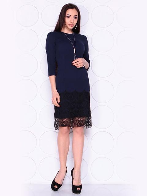 Платье темно-синего цвета Laura Bettini 4919801