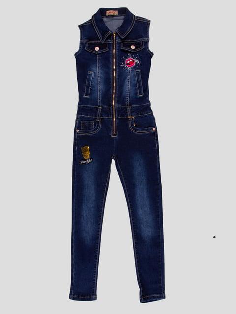 Комбинезон темно-синий джинсовый Grace 4919001