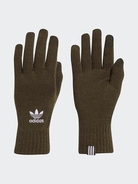 Перчатки цвета хаки Adidas 4601436