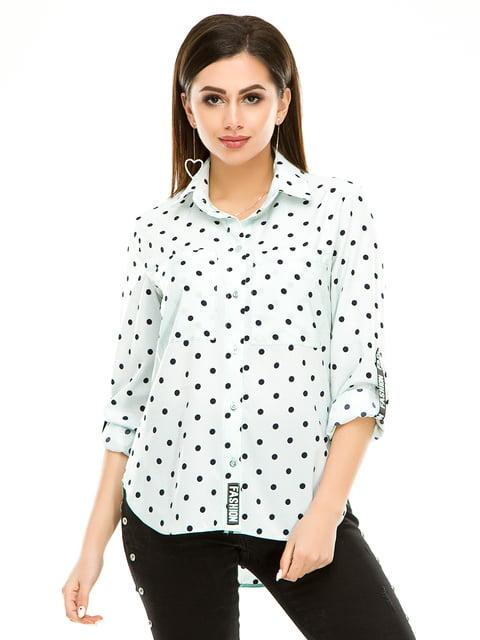 Рубашка мятного цвета в горошек Exclusive. 4937160
