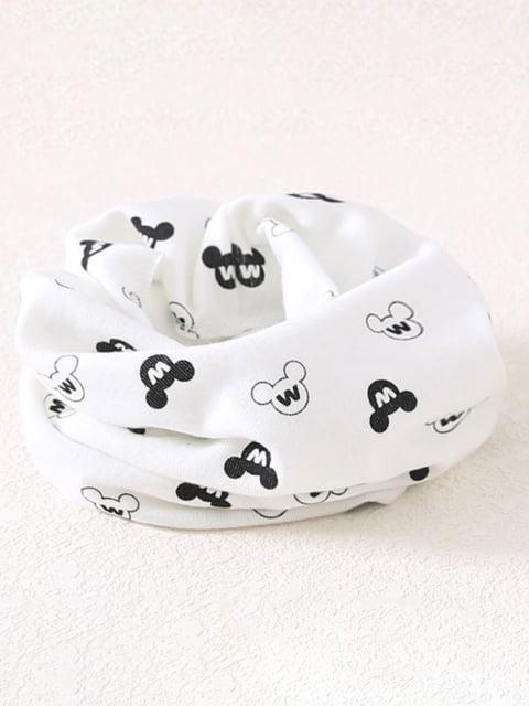 Шарф-хомут белый в принт Top Baby 4944081