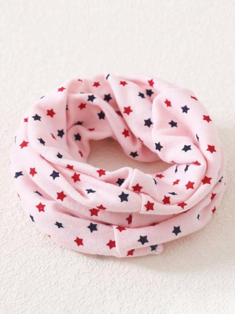 Шарф-хомут рожевий в принт Top Baby 4944145