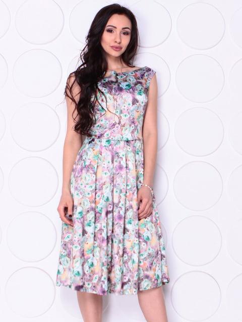 Платье в цветочный принт Laura Bettini 4948189