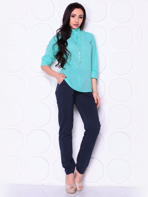 Блуза ментолового цвета Laura Bettini 4948205
