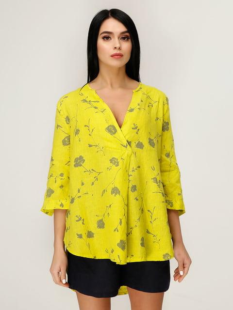 Блуза салатова в квітковий принт Favoritti 4949877