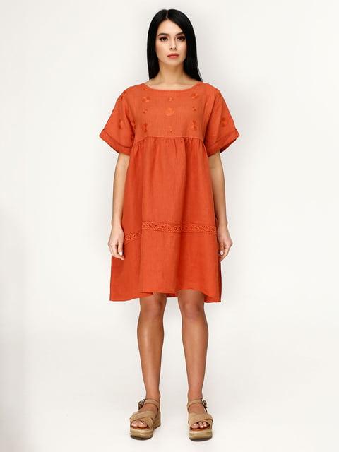 Платье кирпичного цвета Favoritti 4949893