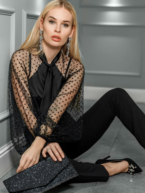 Блуза черная Gepur 4900929