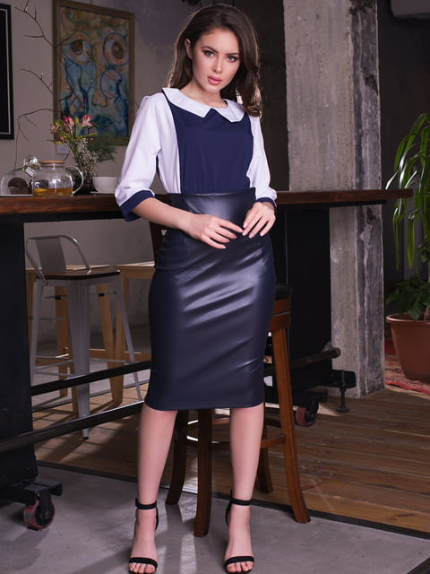 Блуза двоколірна ELFBERG 4613538
