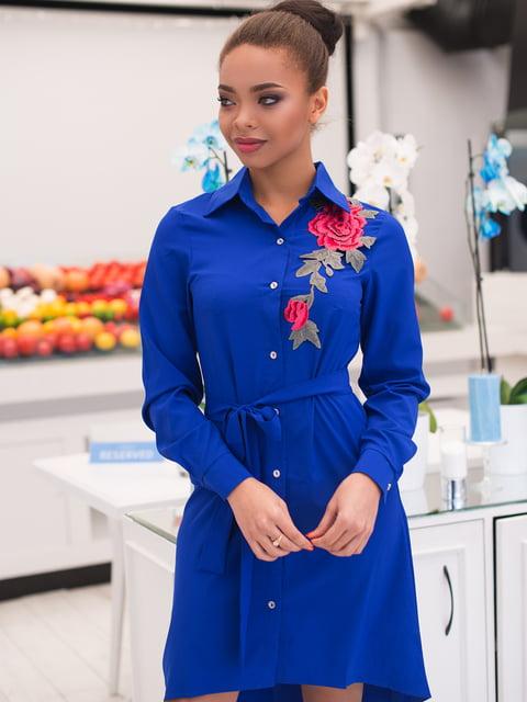 Платье цвета электрик ELFBERG 4613576