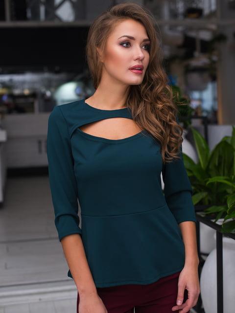 Блуза темно-зелена ELFBERG 4613586