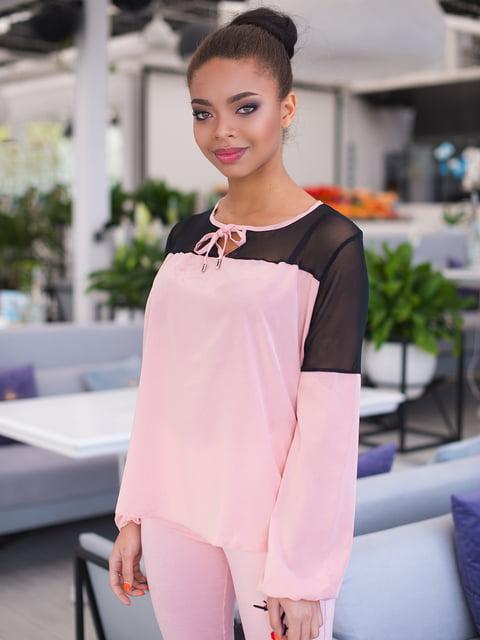 Блуза кольору пудри ELFBERG 4613803