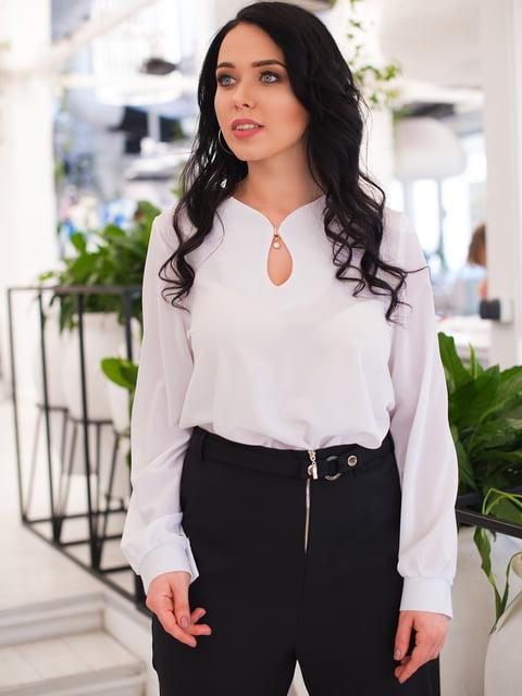 Блуза белая ELFBERG plus size 4613923