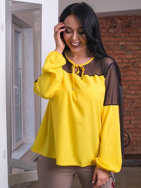 Блуза жовта ELFBERG plus size 4613992