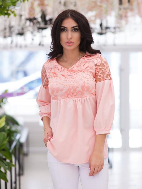 Блуза кольору пудри ELFBERG 4950199
