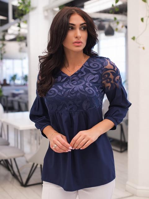 Блуза темно-синя ELFBERG 4950200